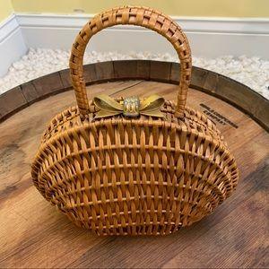 Koret Vintage Wicker Basket Purse